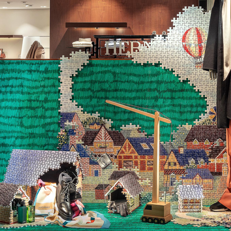 Hermès Noël 2018 Réseau France, Puzzle Pieces